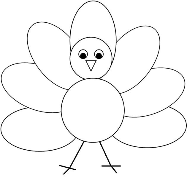 Coloring Or Decorating The Simple Turkey Clipart I Created.