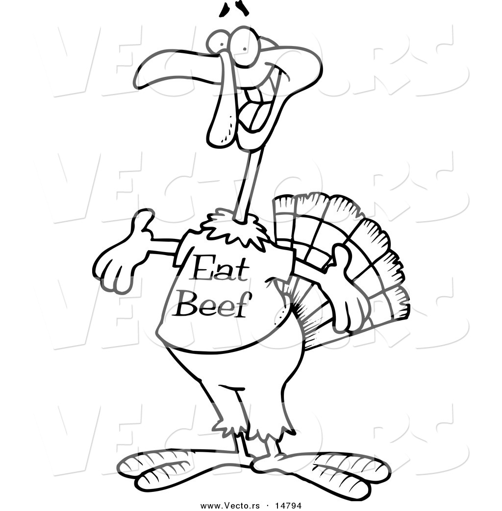 Turkey Clipart Eat Beef.