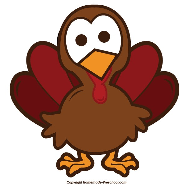 Cute Turkey Clipart.