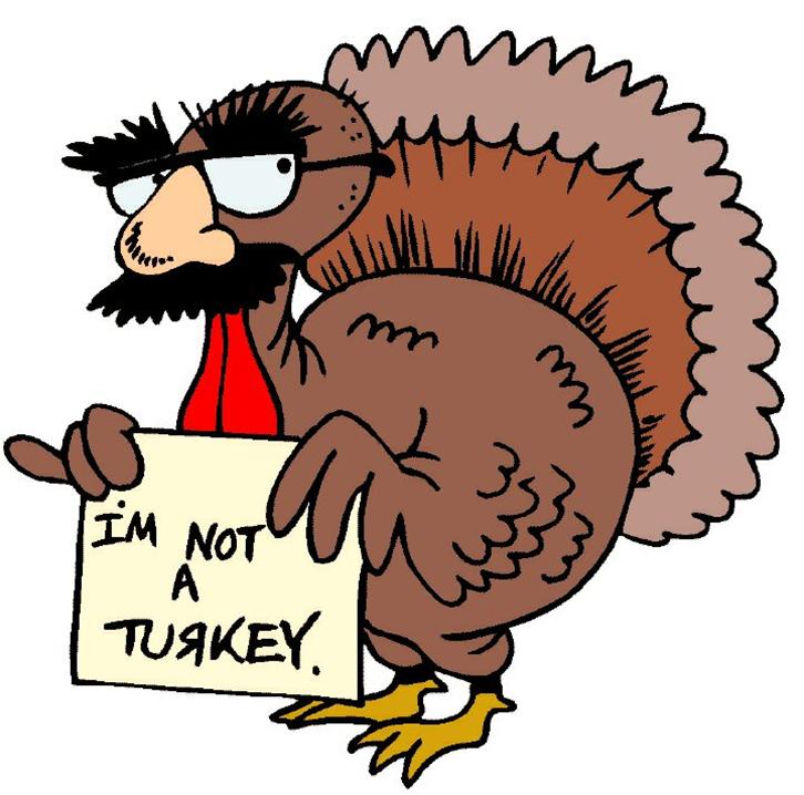 I Am Not A Turkey Clipart.