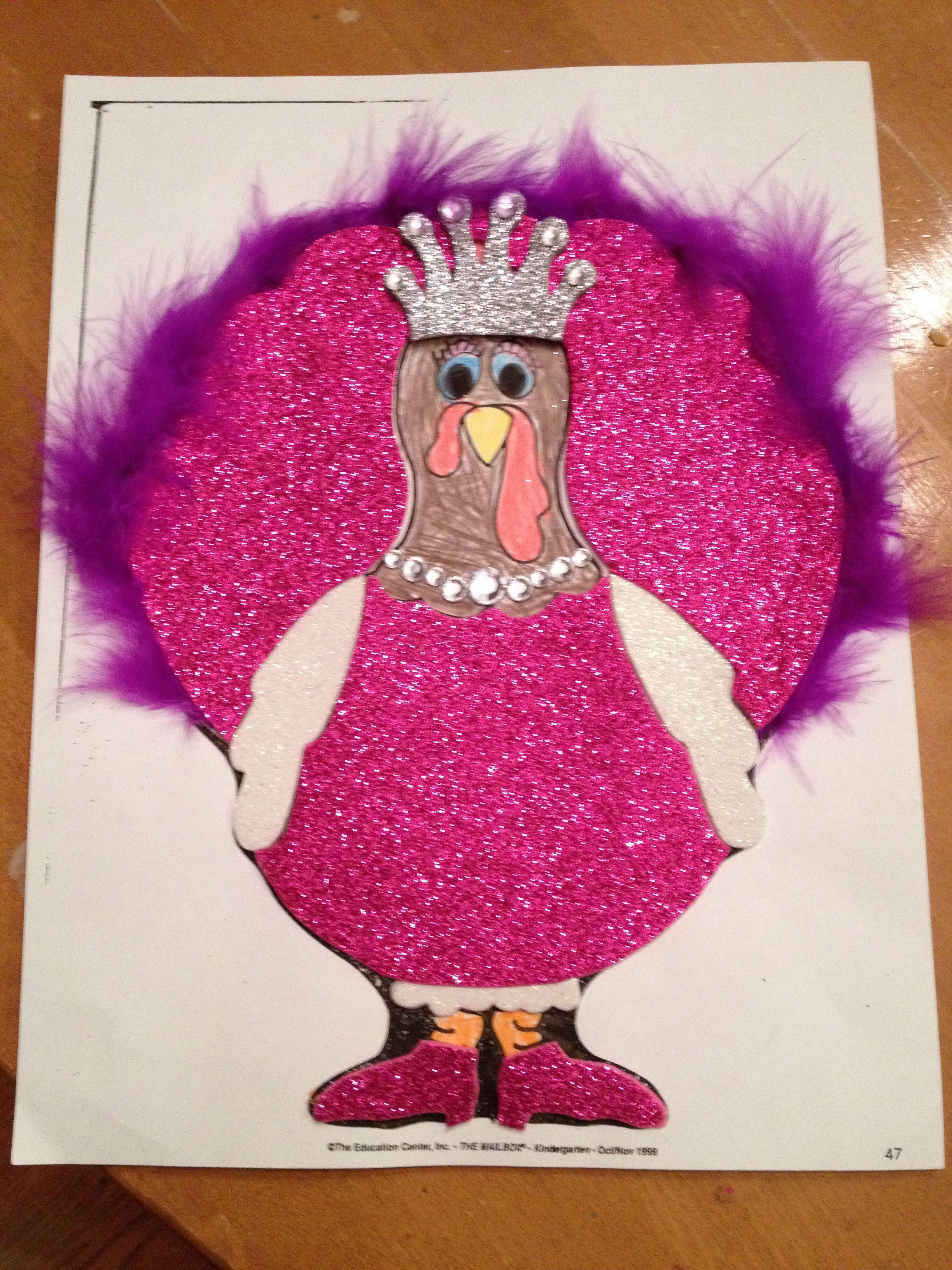 Turkey disguised as a princess.