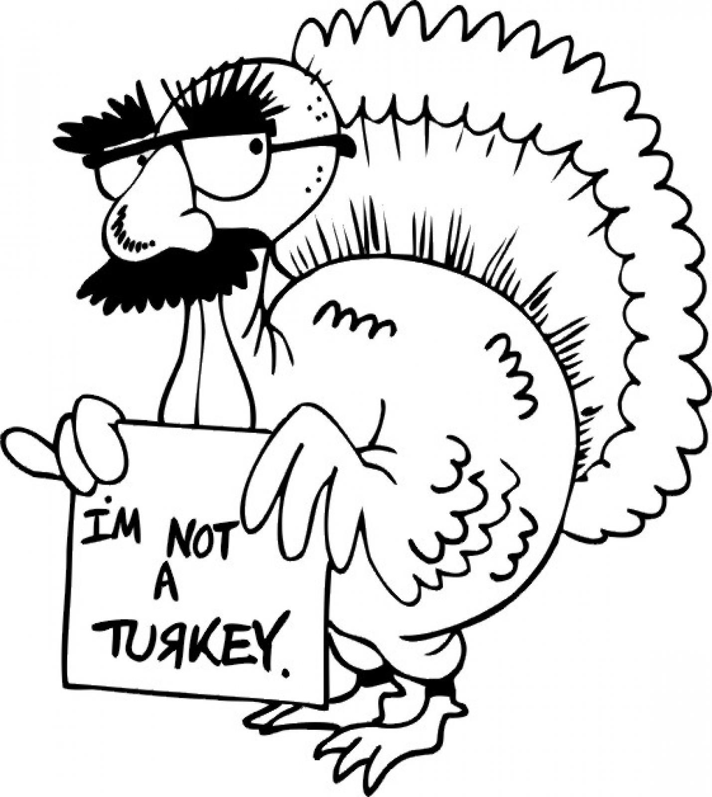 Free Funny Turkey Coloring Page, Download Free Clip Art.