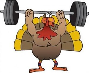 Turkey Working Out Clipart.