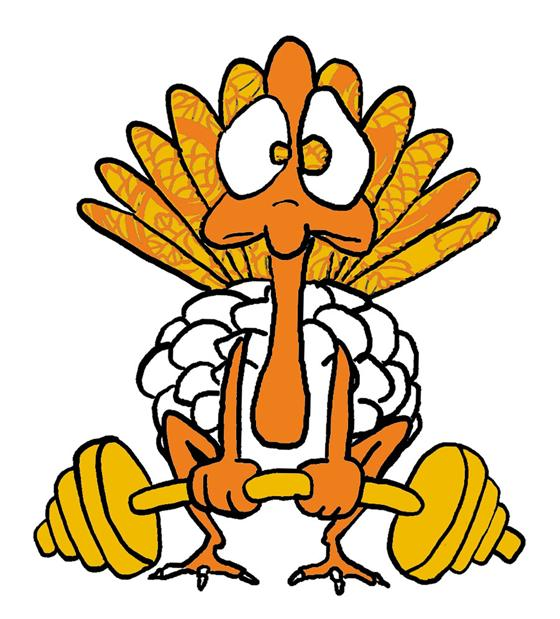 Turkey exercising clip art.