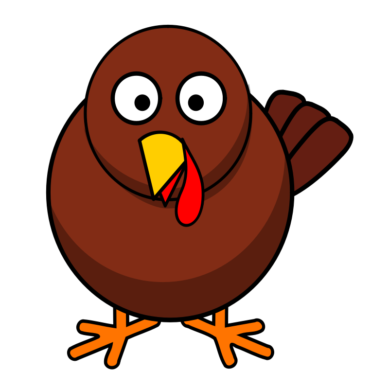 A Cartoon Picture Of A Turkey.