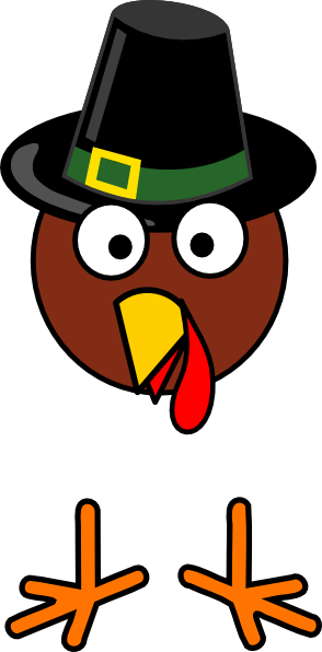 Turkey Face With Hat Clipart.