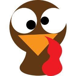 turkey face clipart.