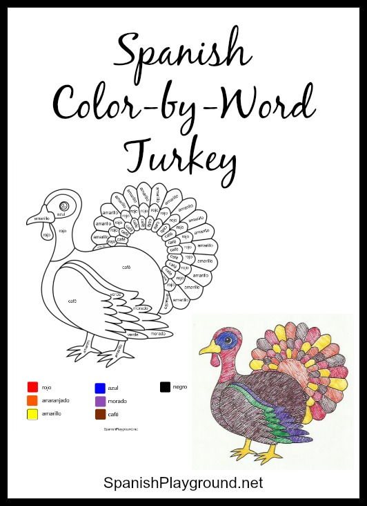 Turkey Body Coloring Page.