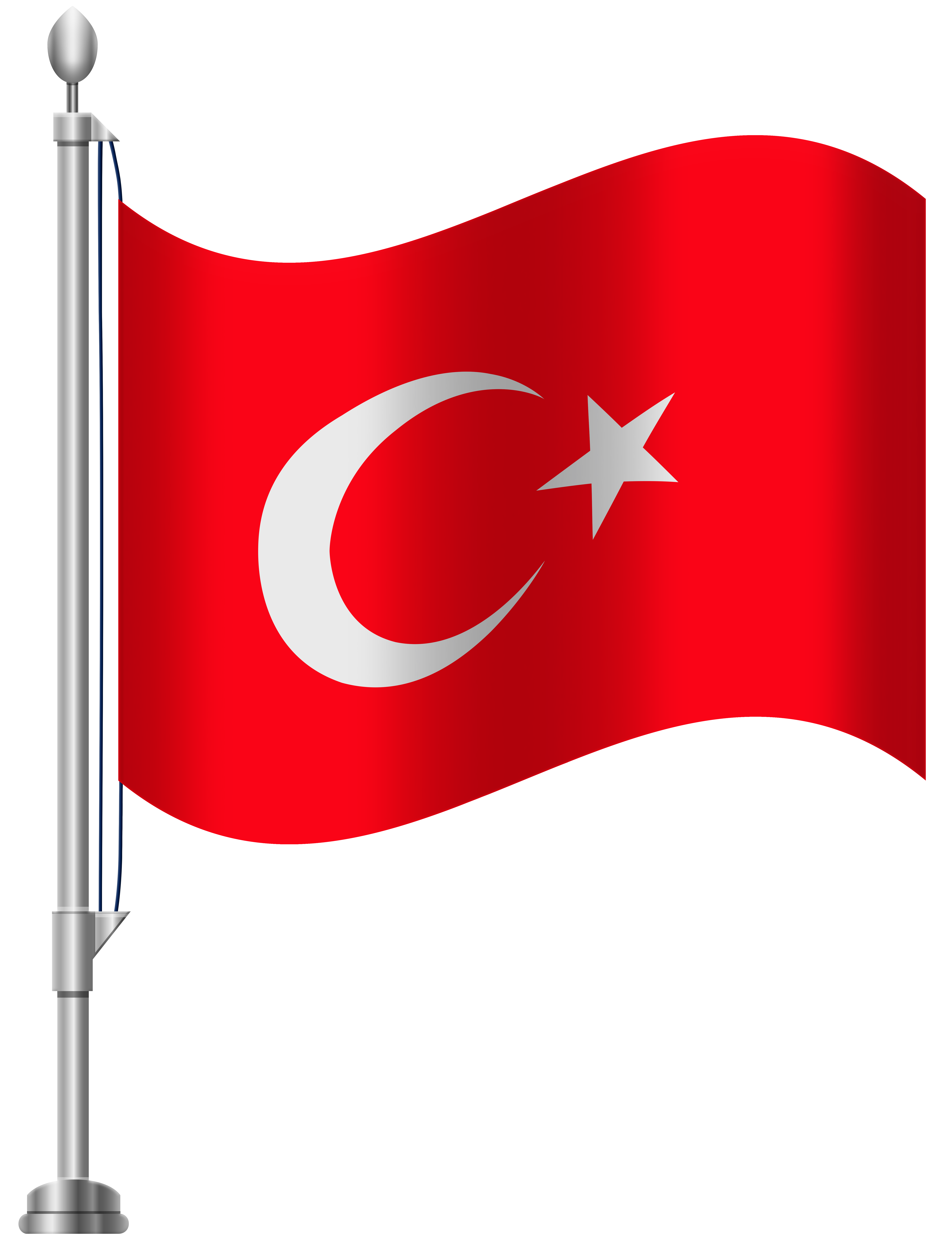 Turkey Flag PNG Clip Art.