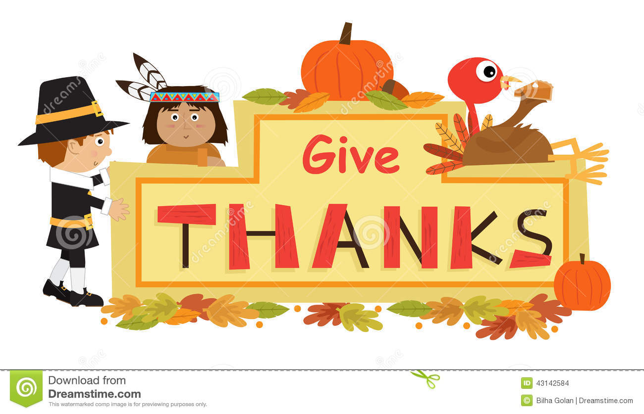 Thanksgiving Give Thanks Clipart.