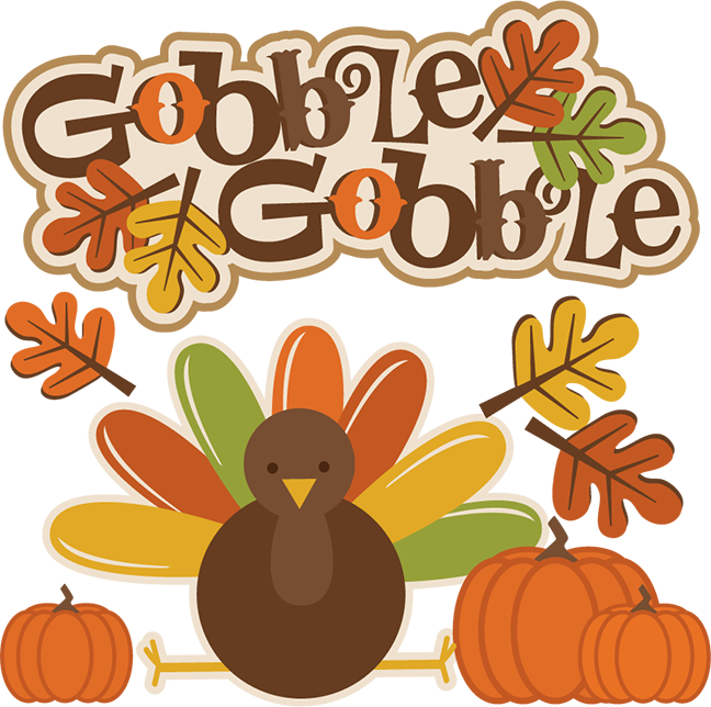 Gobble Gobble Thanksgiving svg cutting files for cricut.