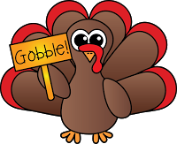 Colorful Turkey Clipart.