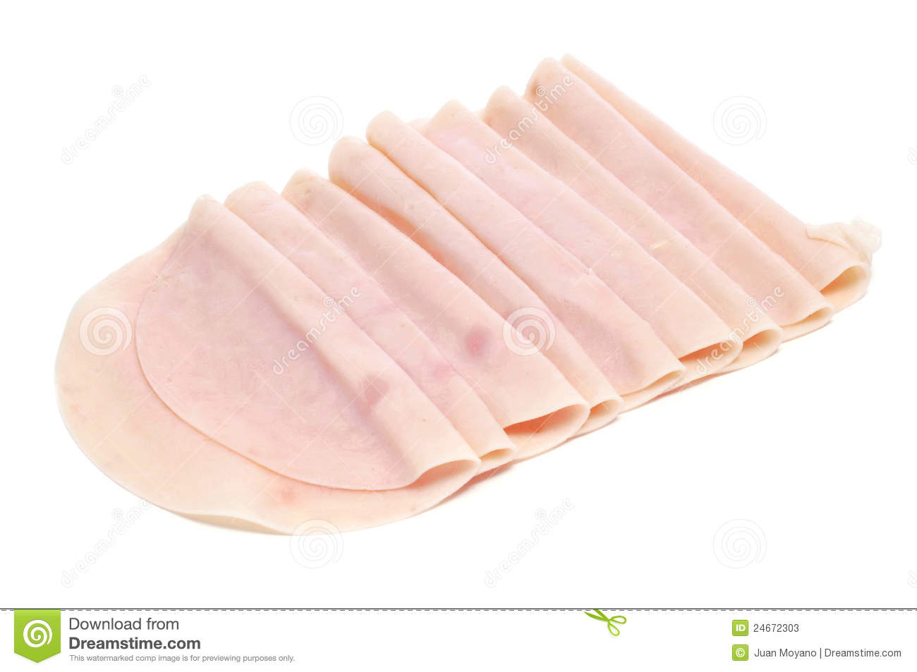 Turkey Ham Stock Photos.
