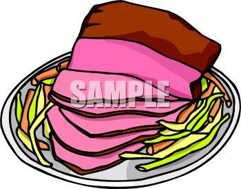 Ham Dinner Clipart.