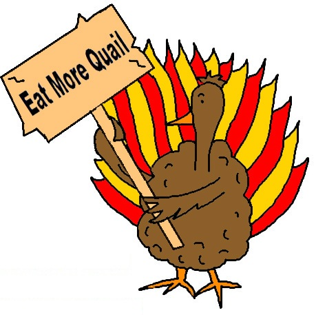 Turkey Holding Sign Clipart.