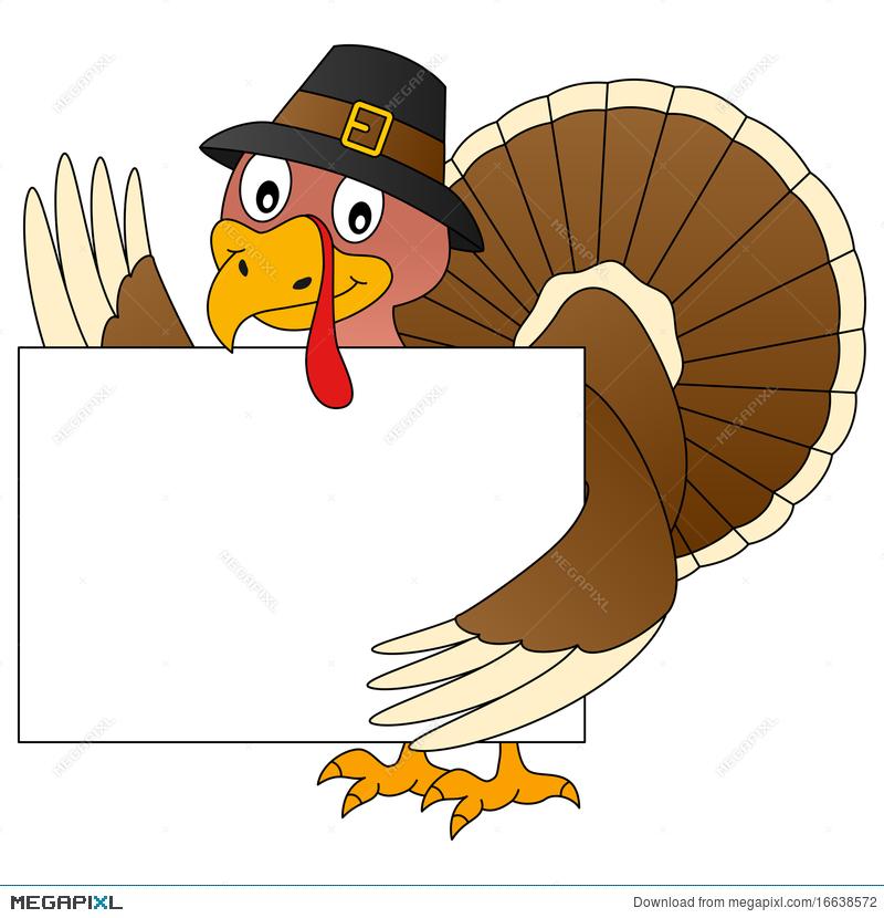 Thanksgiving Turkey And Banner Illustration 16638572.
