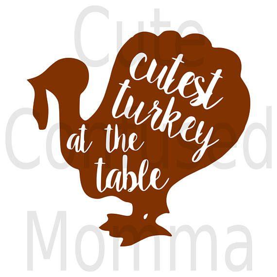 Thanksgiving Svg Fall Svg Autumn Svg Turkey Clipart.