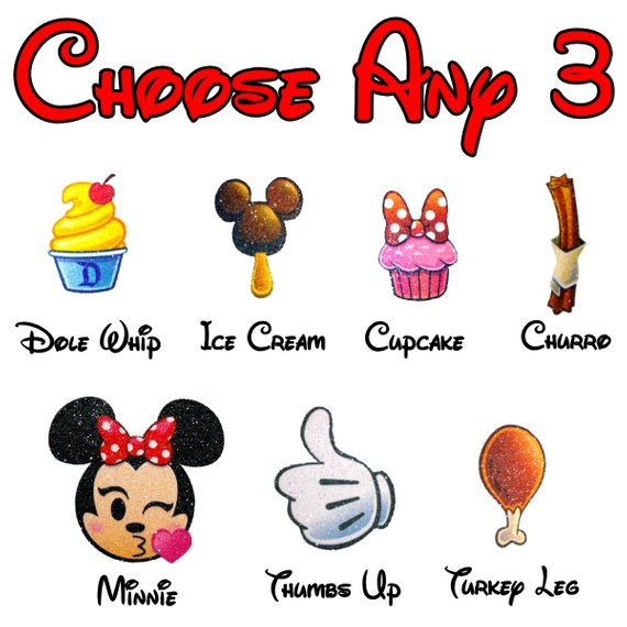Disney Emoji Food Snack T.