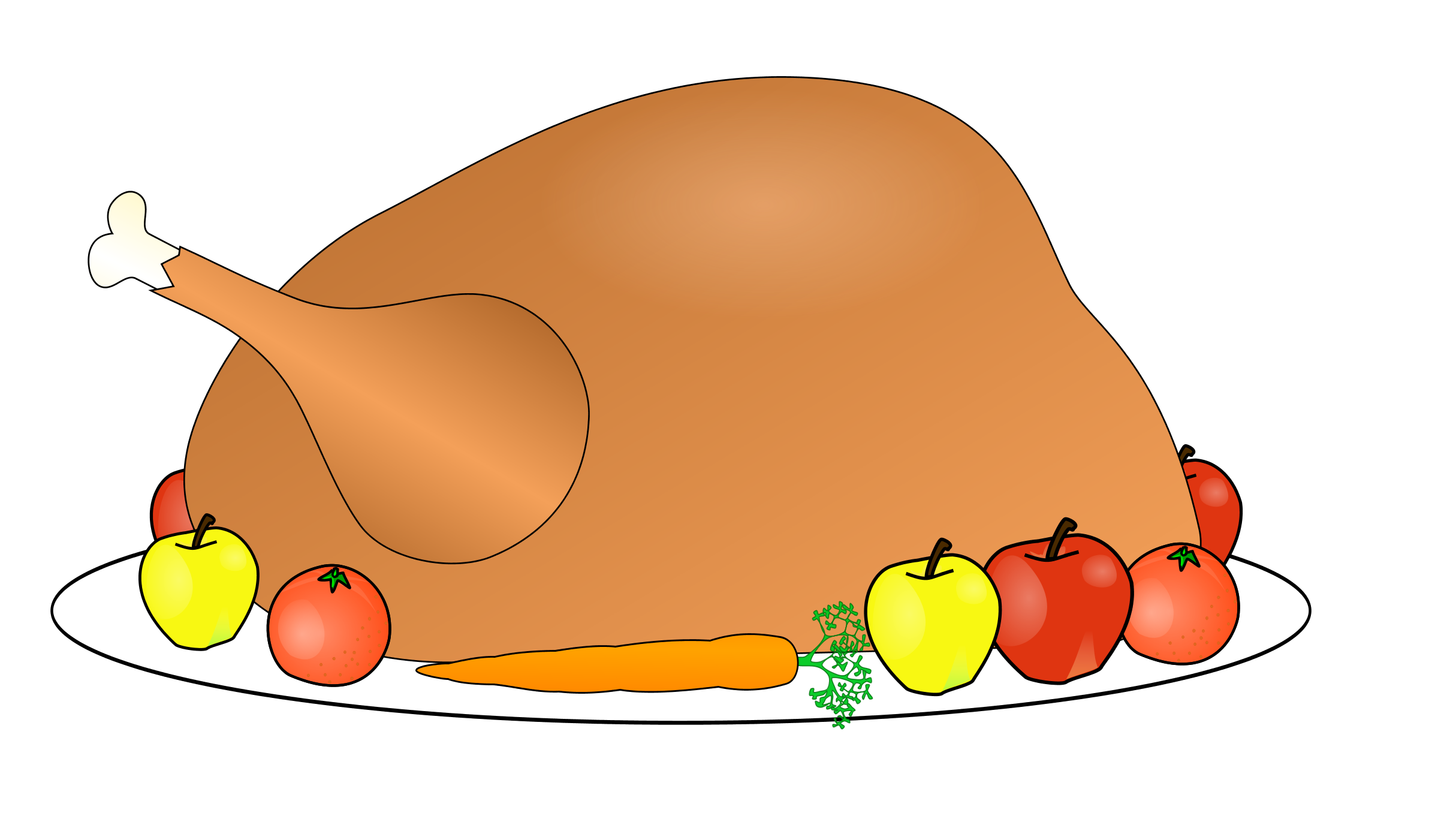 Cooked turkey leg clipart.