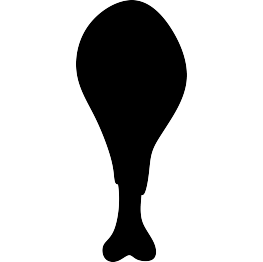 FREE SVG Turkey Leg Silhouette.
