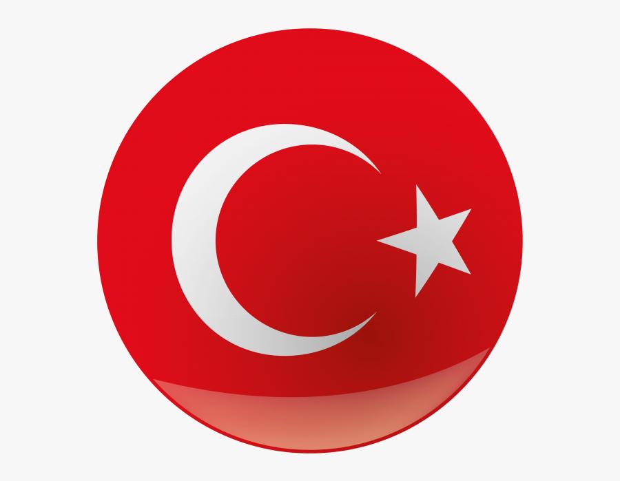 Turkey Round Flag.