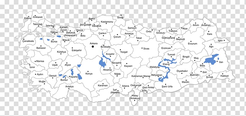 Kayseri Ankara Provinces of Turkey Map, map transparent.