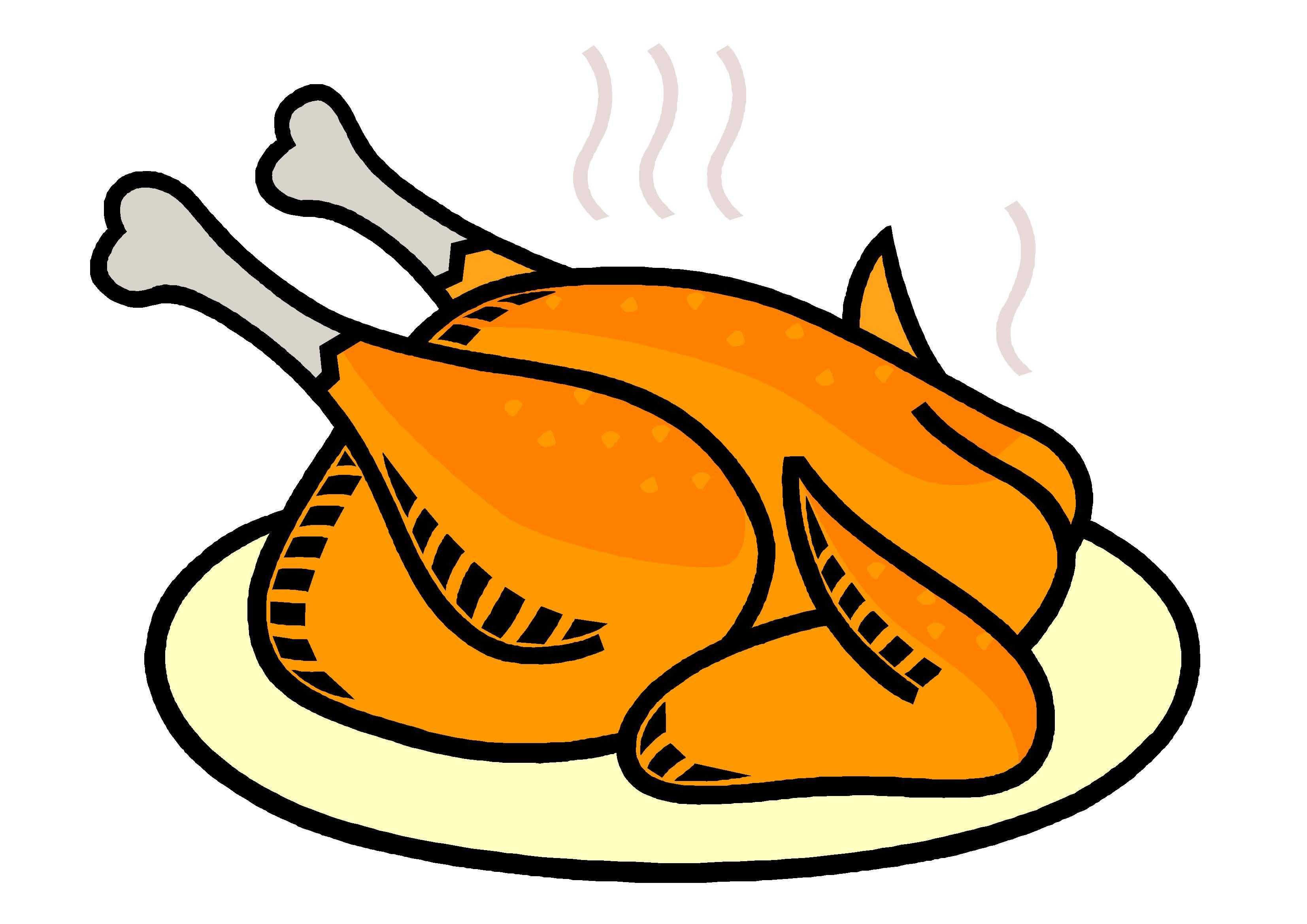 Turkey food drive clipart.
