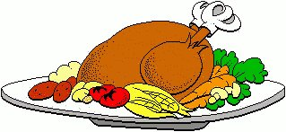 Turkey lunch clipart.