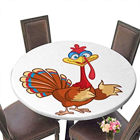 Amazon.com : Round Tablecloth Waterproof Polyester Table.