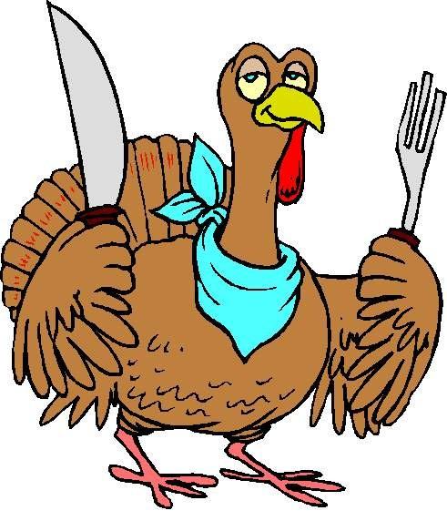 Pix For Thanksgiving Dinner Cartoon Table.