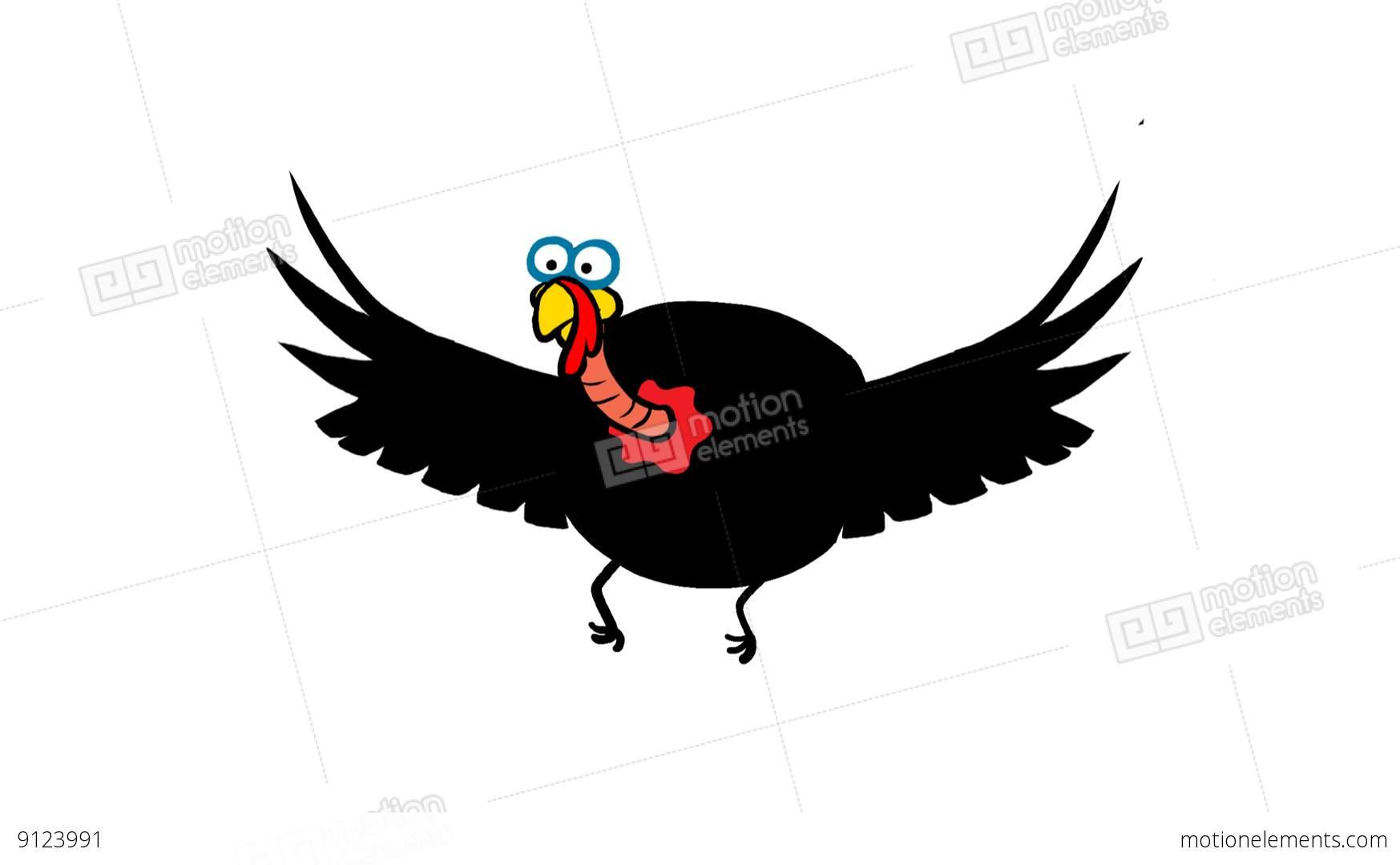 Flying Turkey Clipart.