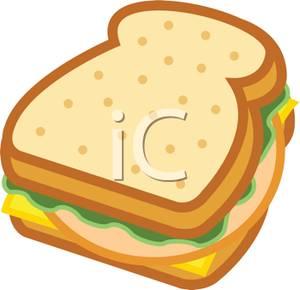 A Turkey Sandwich Clipart Image.