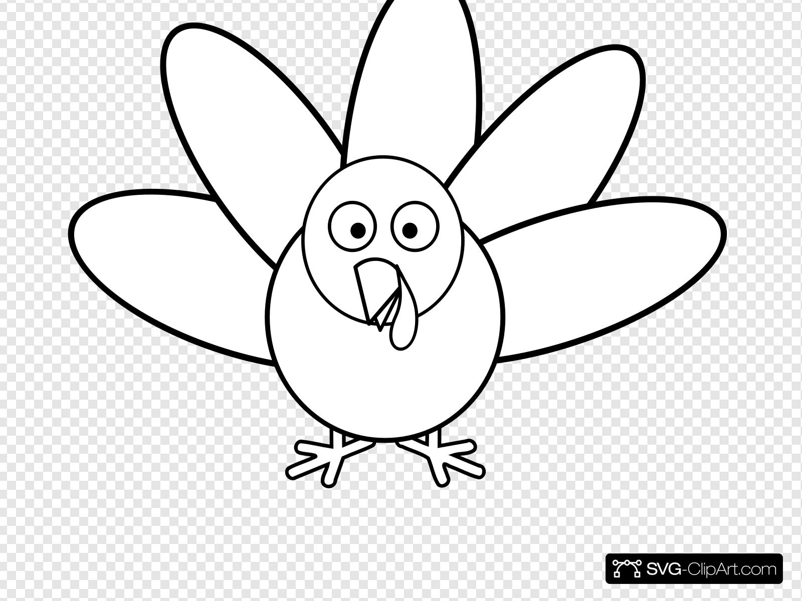 Turkey With Feathers Clip art, Icon and SVG.
