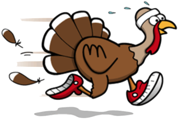 Turkey trot Thanksgiving Running Walking Clip art.