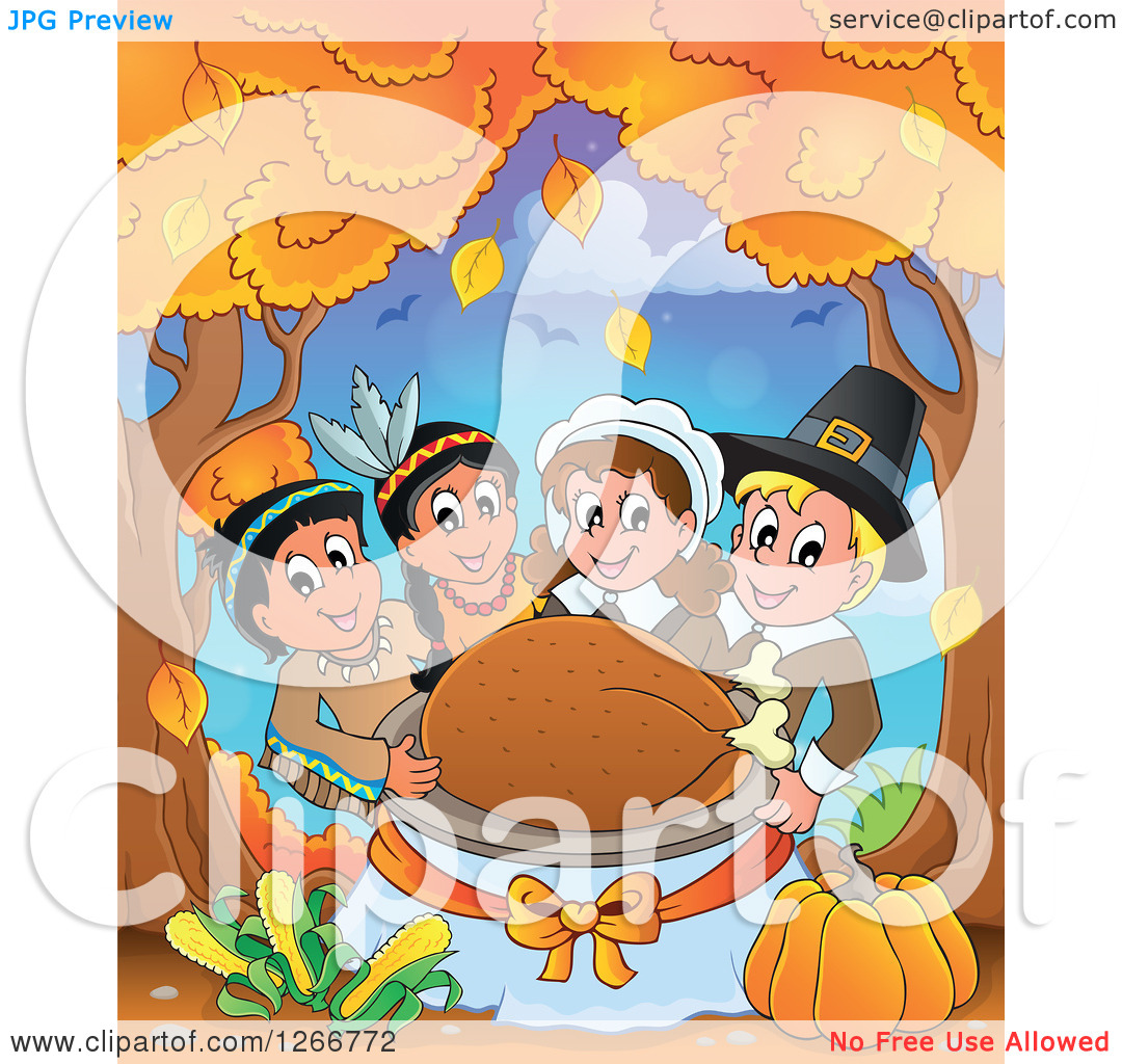 Turkey Under Tree Clipart.
