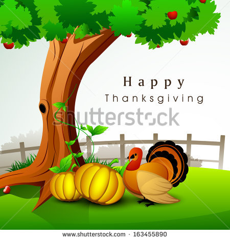 Happy Thanksgiving Day Celebration Concept With Pumpkins And.