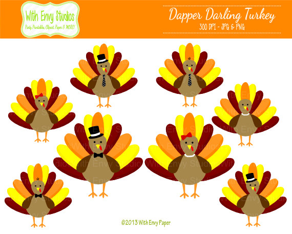 Items similar to 50% OFF Turkey Clipart.