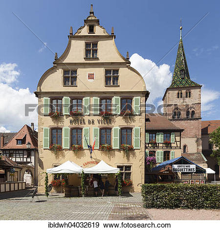 "Stock Photograph of ""Town Hall and St. Anne's Church, Turckheim."