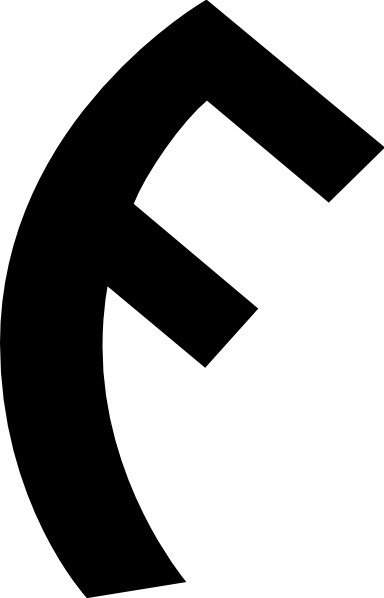 Old Turkic Letter G clip art Free vector in Open office drawing.