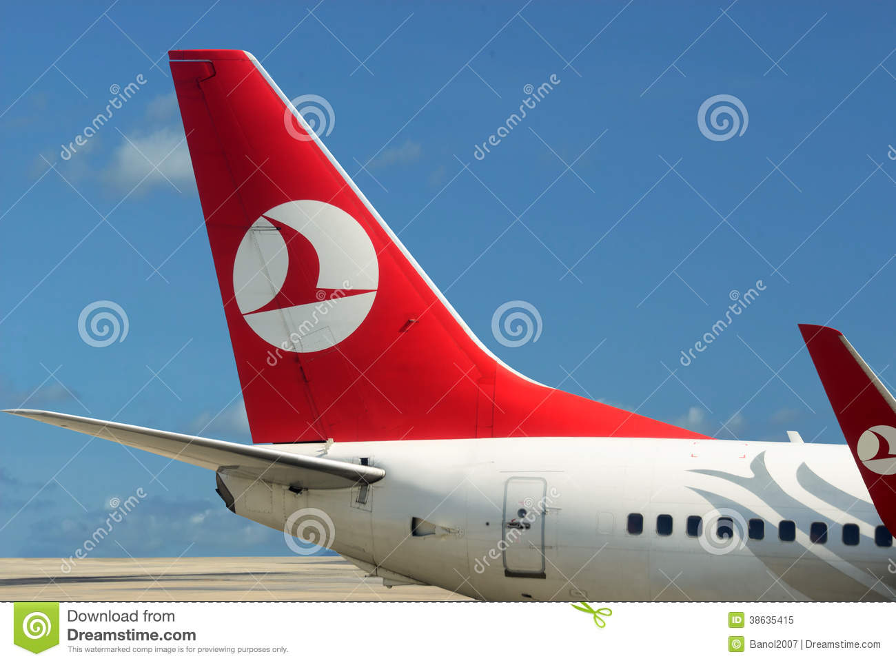 Turkish Airlines Jets At Istanbul Airport Editorial Image.