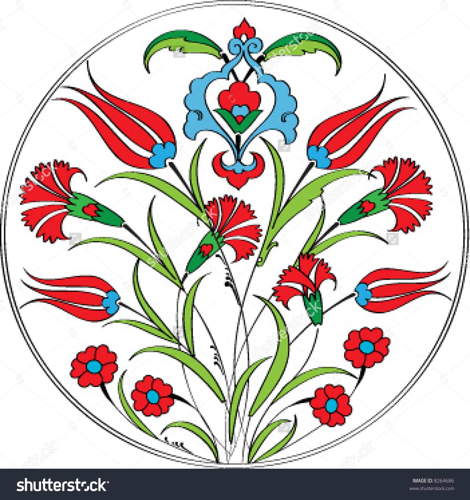 Ottoman Tulip Stock Vectors & Vector Clip Art.