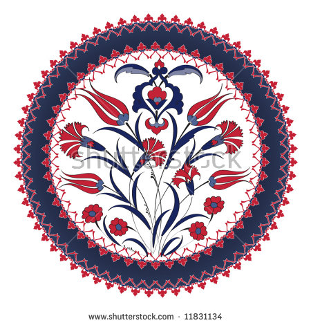Vector Images, Illustrations and Cliparts: Traditional ottoman.