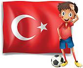 Turkish Crescent Clip Art.