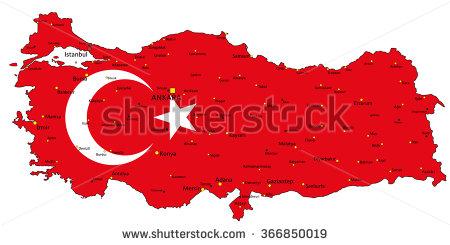 Turkey Map Stock Photos, Royalty.