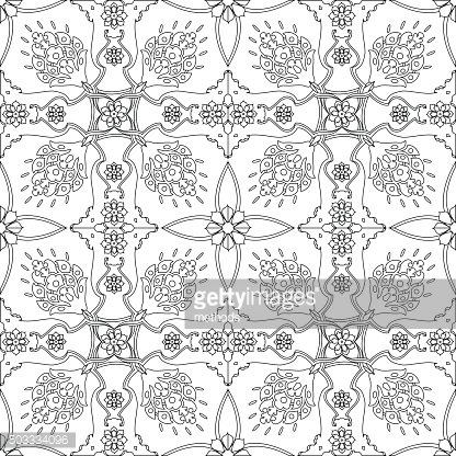 Ottoman Turkish Design Pattern Vector premium clipart.