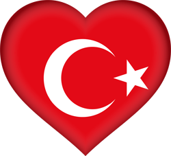 Turkey flag clipart.