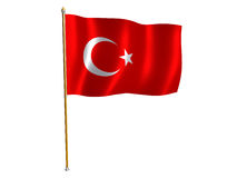Turkish flag clipart.