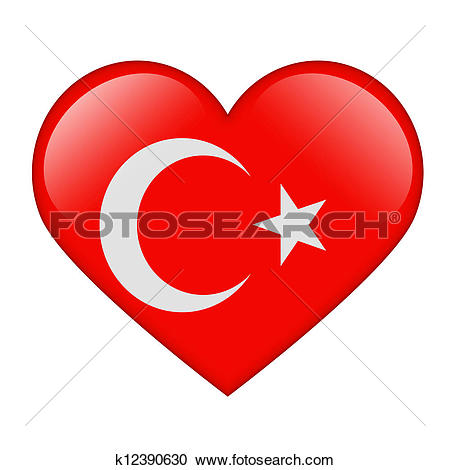 Stock Illustrations of The Turkish flag k12390630.