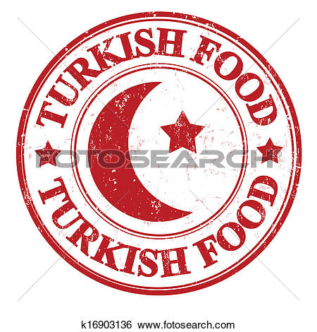 Clip Art of Turkish food stamp k16903136.