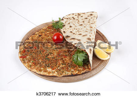Picture of Turkish pizza.